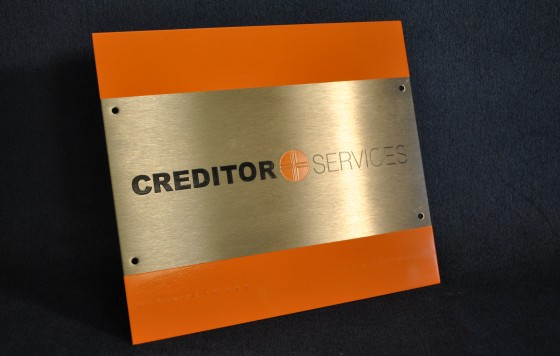 Stainless Steel Office Nameplate 1